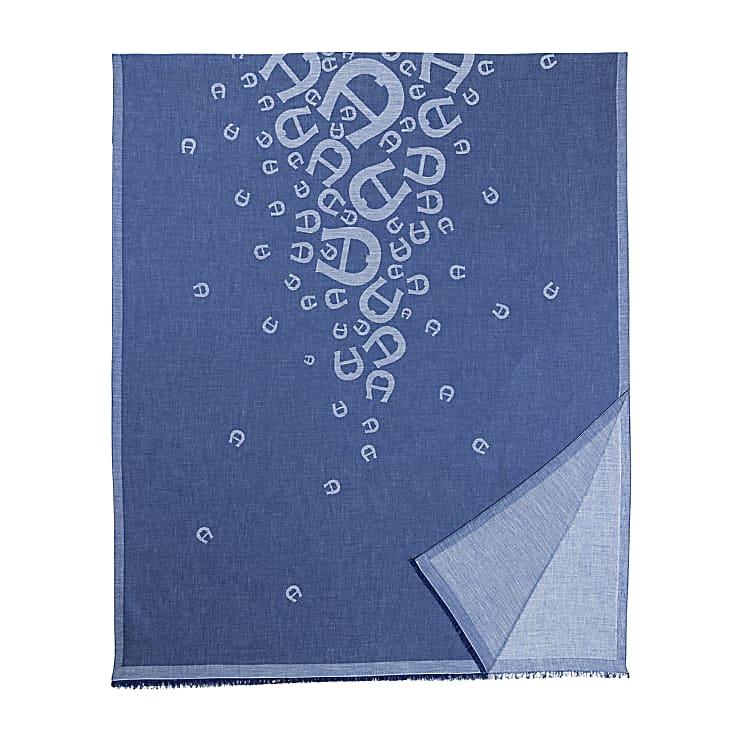 Aigner Damen SCHAL M, Baumwollmischung in Blau