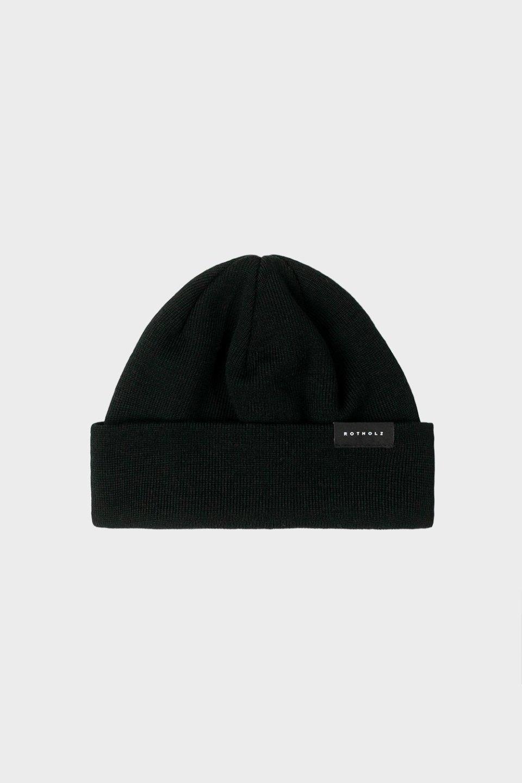 Kurze Mütze Baumwolle Fein Schwarz