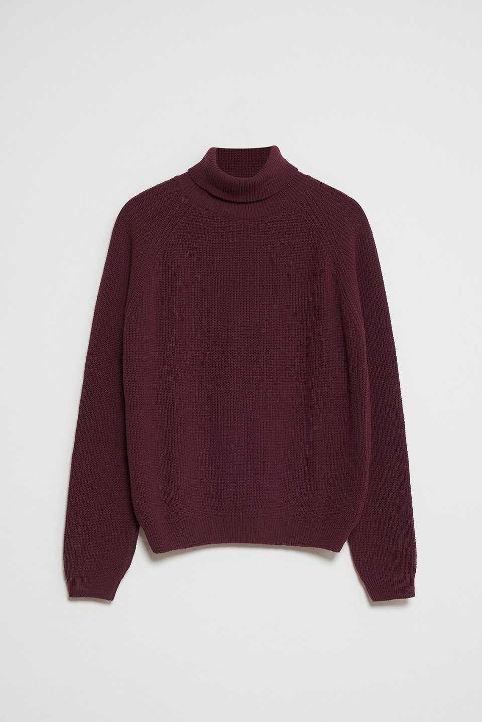 100% Recycled Ribbed Turtleneck Jumper