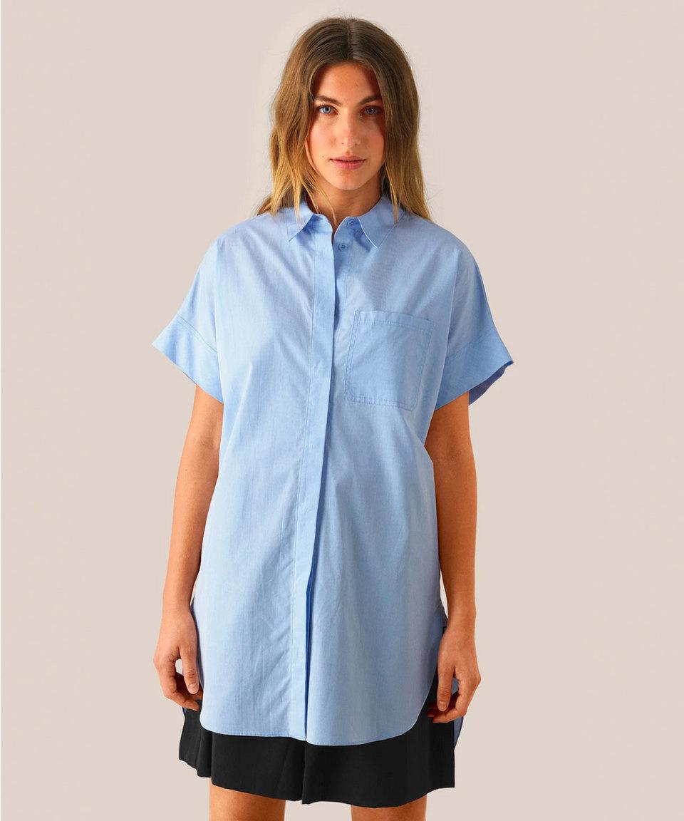 SECOND FEMALE Hellblaues Longhemd