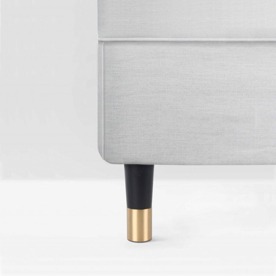 Möbelbein aus Eschenholz mit Messingfuß: Estelle 120 Schwarz