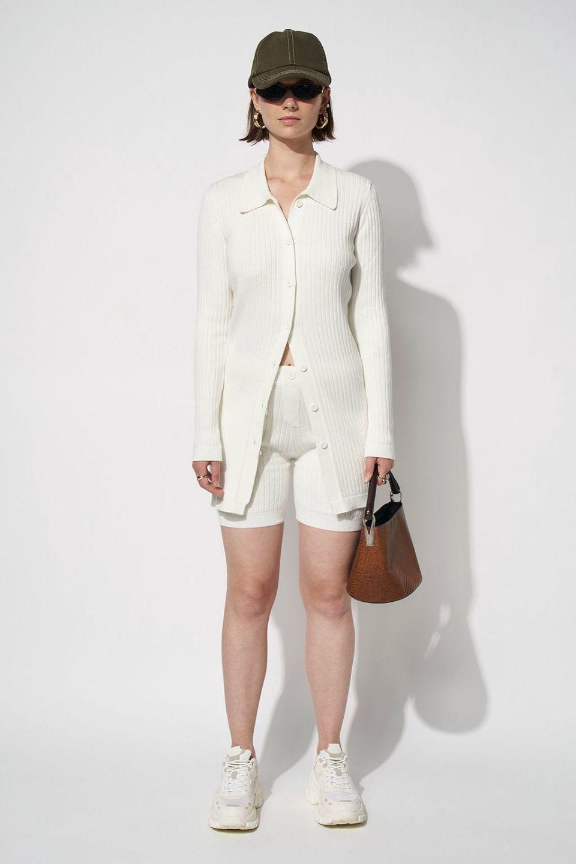 100% Organic Collar Slim Fit Knitted Cardigan
