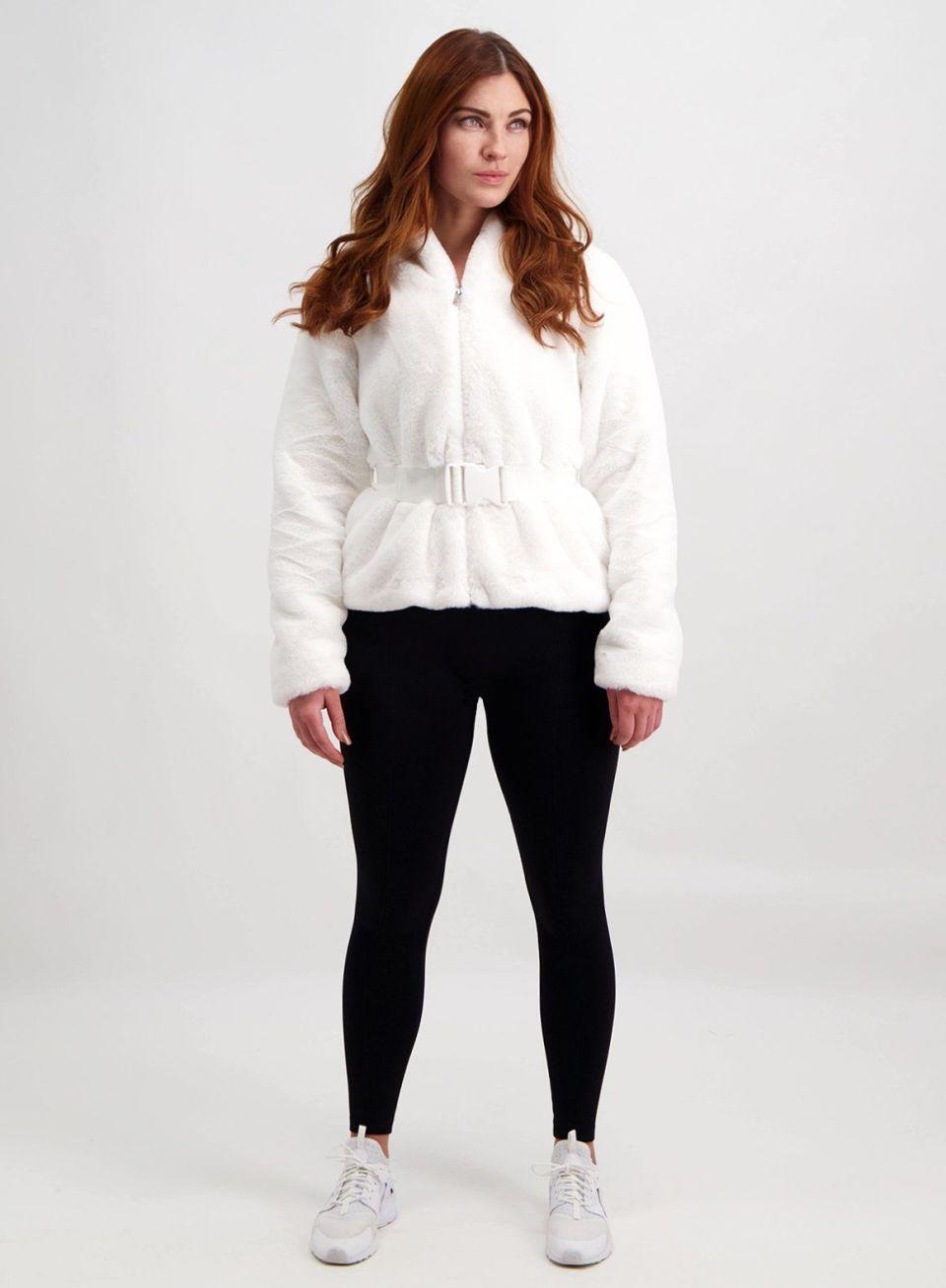 Off-White Embrace Faux Fur Jacket