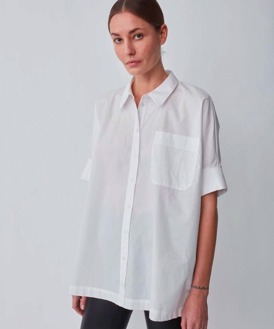 JUST FEMALE Oversized Baumwollhemd, 2 Farben