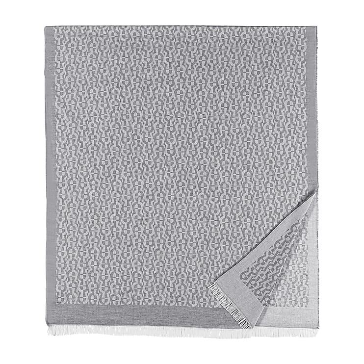 Aigner Unisex SCHAL M, Baumwollmischung in Slate Grey