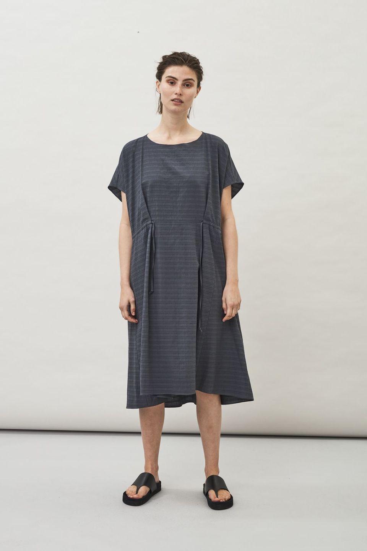 Malia Structured Dress - Charcoal