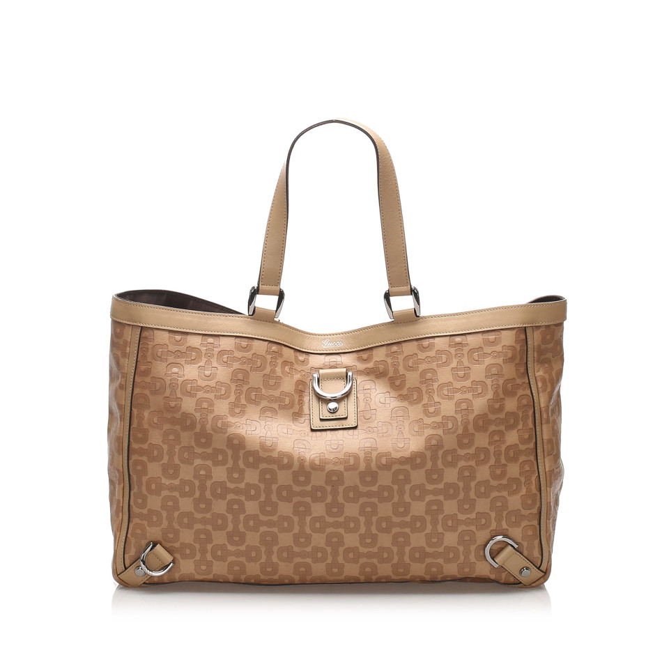 Horsebit Abbey D-Ring Leather Tote Bag