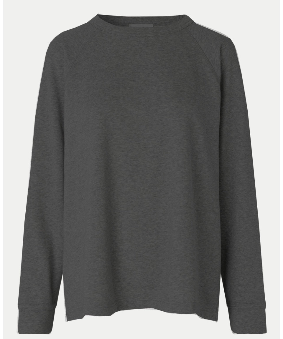 SECOND FEMALE Dunkelgrau melierter Sweater