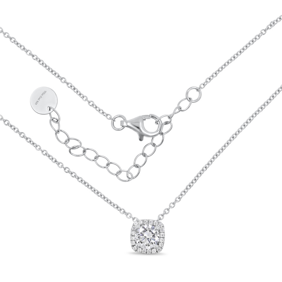 Necklace LEANDRA - white