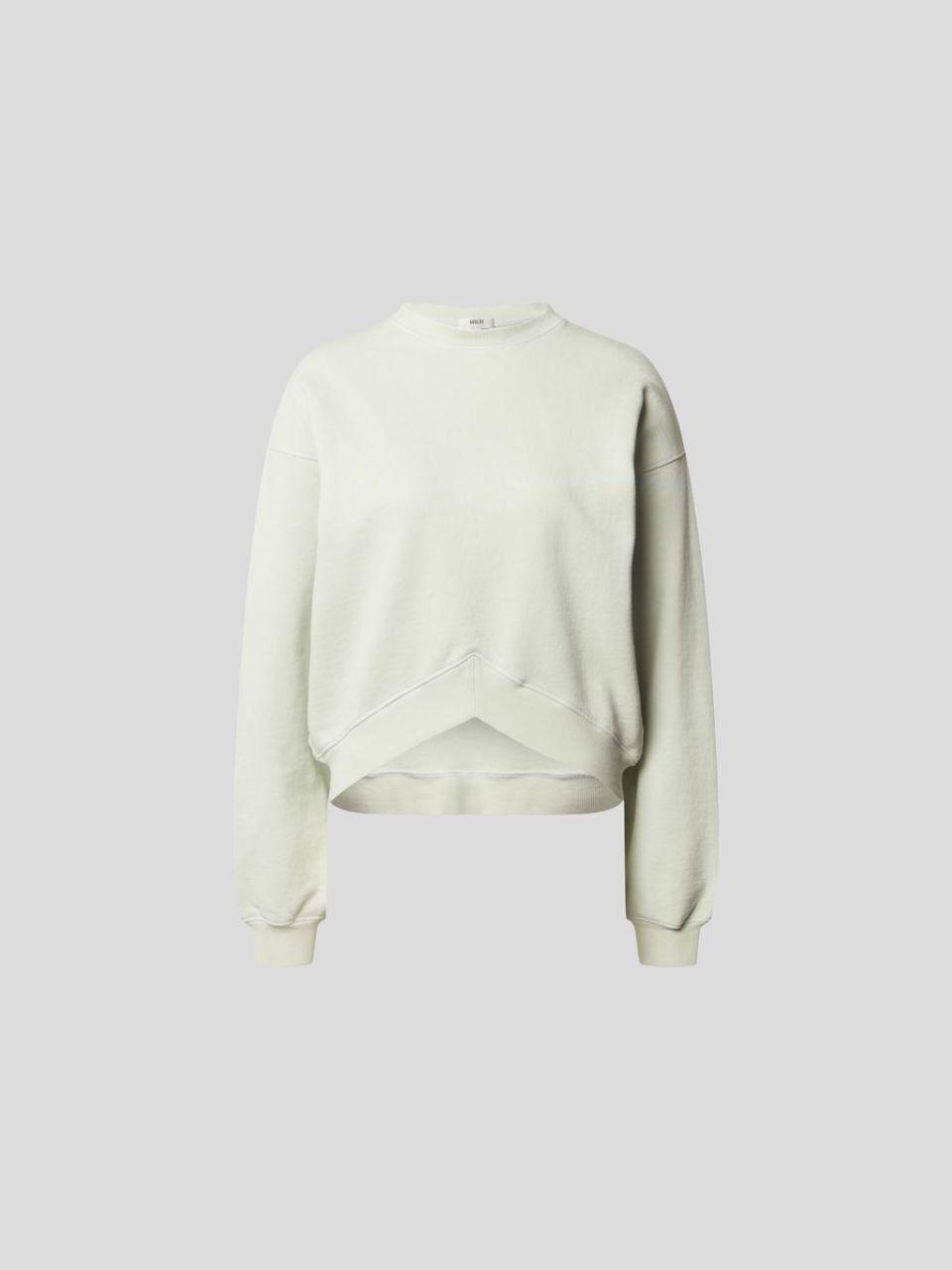 Sweatshirt in Cropped-Optik