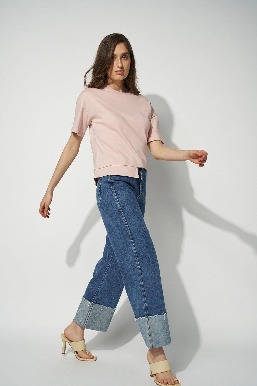 100% Organic Stepped Hem Fitted T-shirt