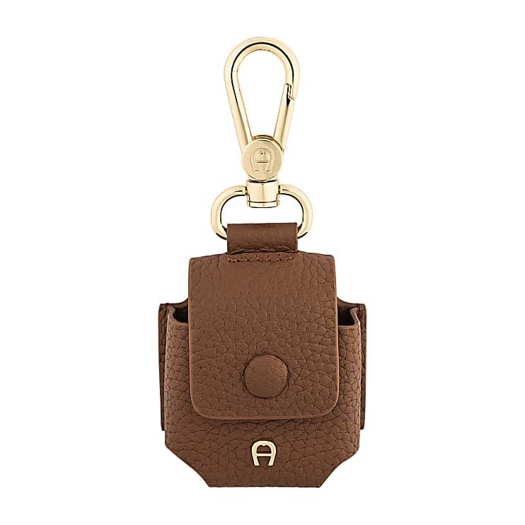 Aigner Damen Fashion Airpod-Tasche, Prägung in Braun