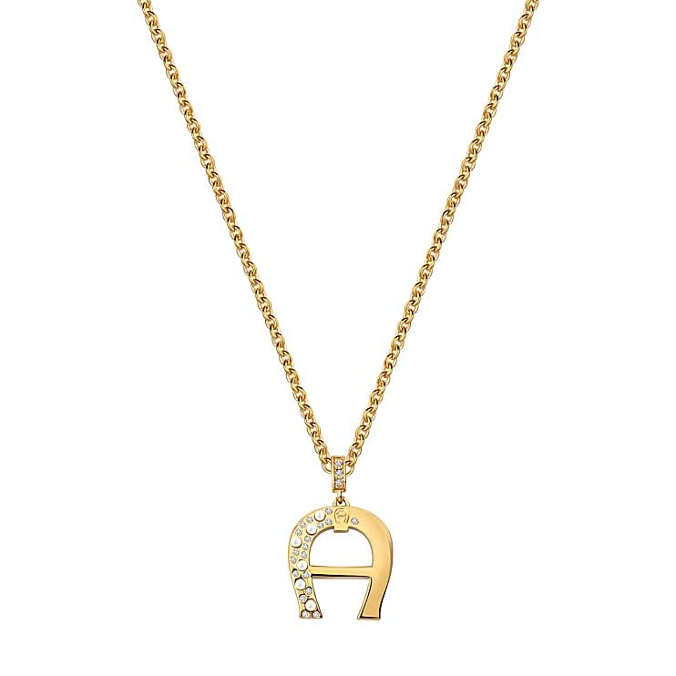 Aigner Damen Halskette mit verziertem A-Logo Gold, in Gold