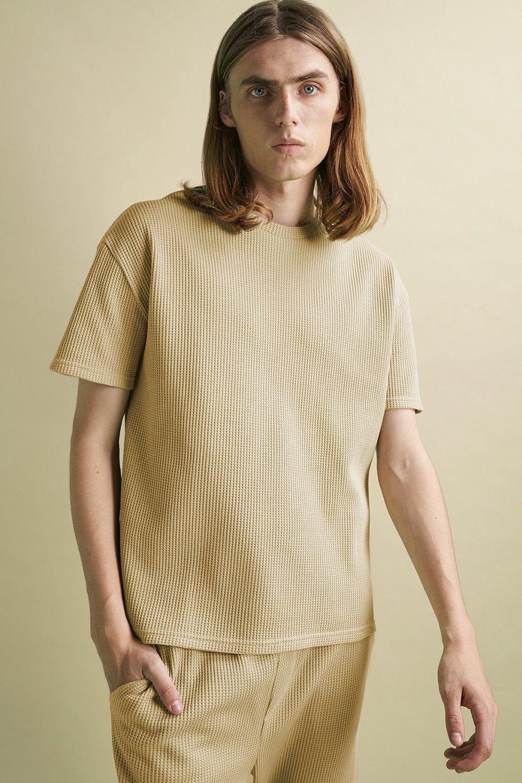 100% Organic Waffle Overszied T-shirt
