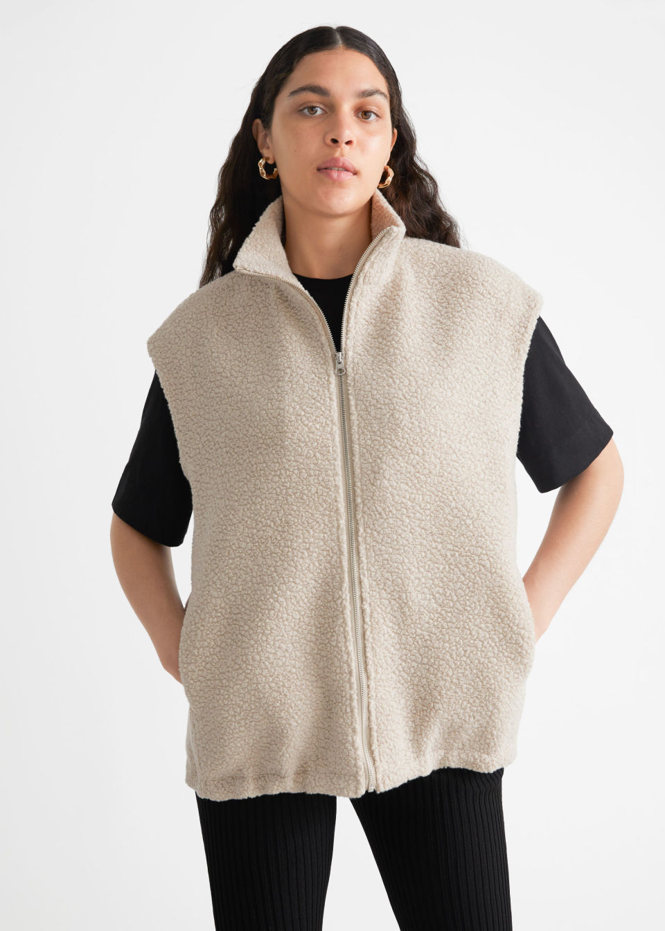 Bouclé Zip Vest