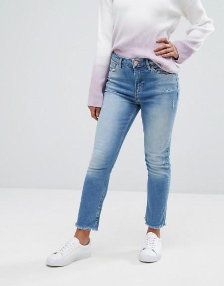 River Island - Jeans mit geradem Bein - Blau