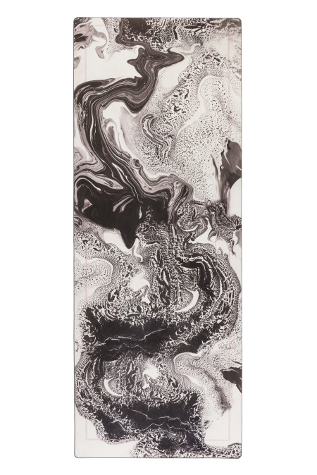 Grounded Factory: Marble Black Yoga Mat