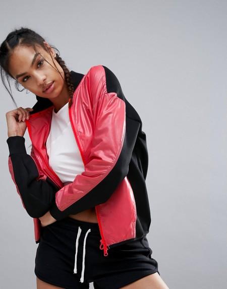 adidas: Adidas - x Stella Sport - Bomberjacke - Schwarz