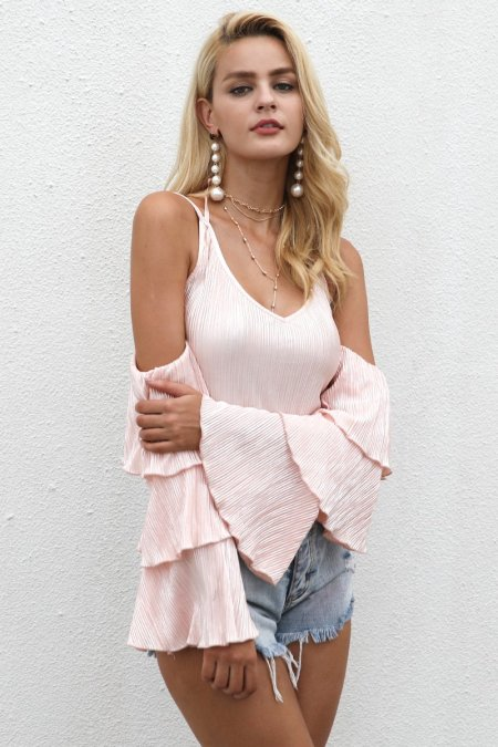 Fashion Movements: pink off shoulder ruffle bodysuit one piece