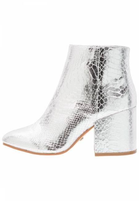 Buffalo: Ankle Boot - metallic silver