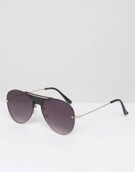 ASOS - Randlose Pilotenbrille - Schwarz