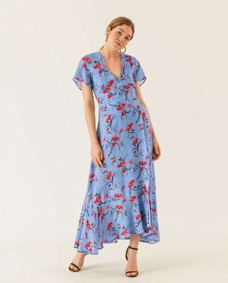 IVY & OAK: Knöchellanges Volant Kleid