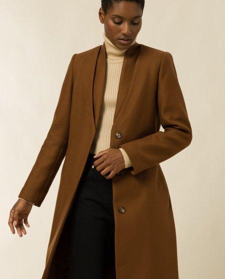 IVY & OAK: Mantel mit doppeltem Kragen