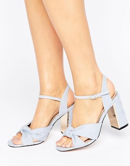 Miss KG - Grace - Sandalen mit Absatz und Knotendesign - Blau