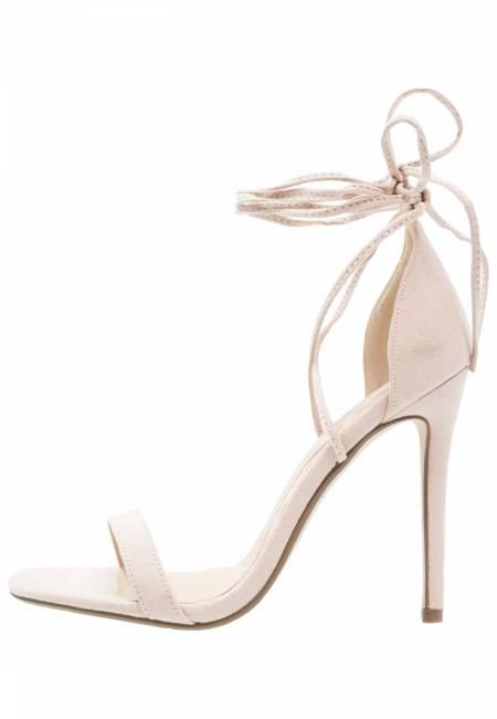 Missguided: High Heel Sandaletten - nude