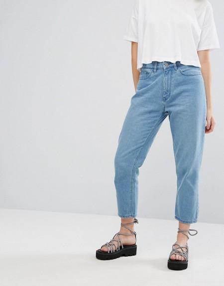 Waven - Elsa - Mom-Jeans - Blau