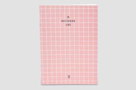 """Livework Notizheft """"Pink Grid"""""""