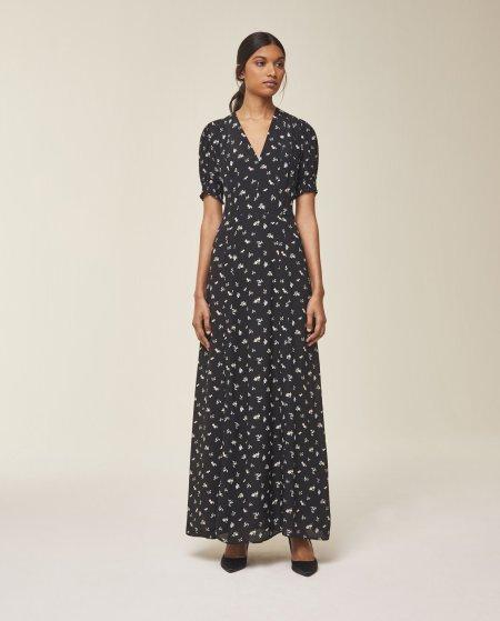 IVY & OAK: Maxi Kleid mit voluminösen Ärmeln