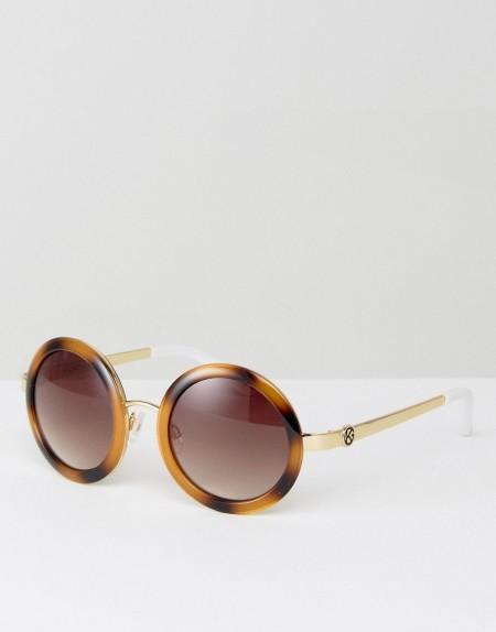 Kurt Geiger - Runde Sonnenbrille - Braun
