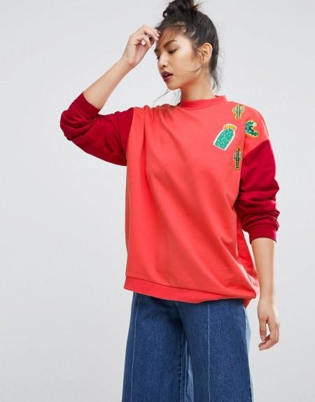 Ziztar - Let'S Catch The Cactus - Sweatshirt - Mehrfarbig
