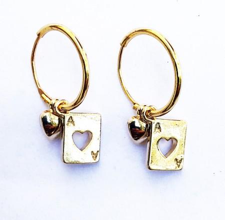 À La: A-La Ohrringe Spielkarte und Herz