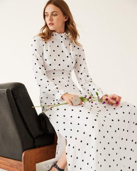 IVY & OAK: Maxi Kleid mit Rüschendetails