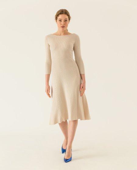 IVY & OAK: Midi Kleid ausgestellt aus Rippstrick