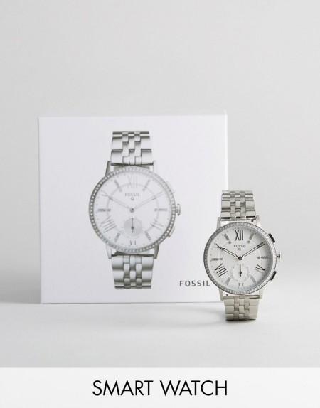 Fossil - Q FTW1105 - Gazer - Smart-Watch in Silber - Grau