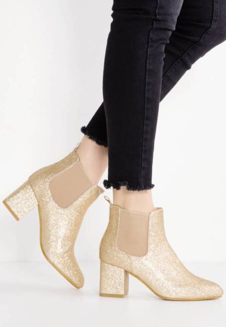 Missguided: Ankle Boot - gold