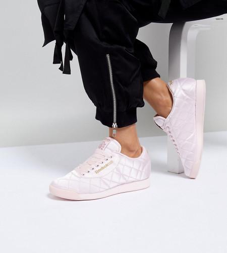 ASOS White: ASOS WHITE - x Reebok - Princess - Sneaker aus gestepptem Satin - Rosa