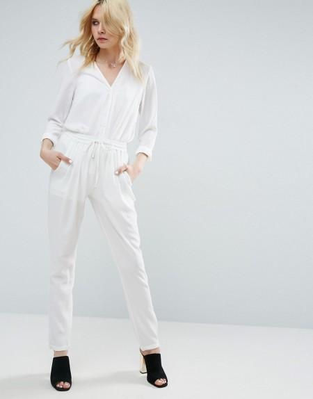 Glamorous - Hose mit Taillenschnürung - Weiß