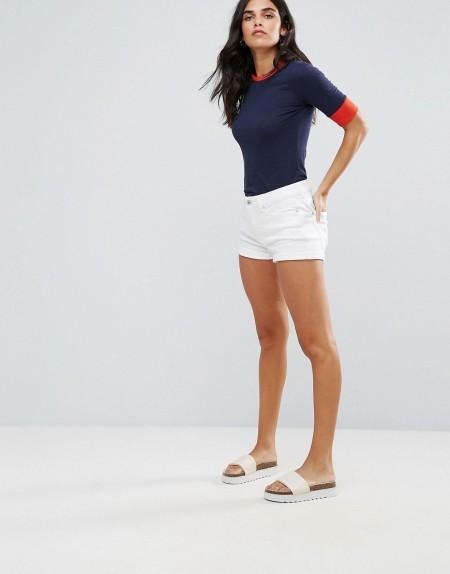 Blend She - Jayze - Legere Jeans-Shorts in Weiß - Weiß