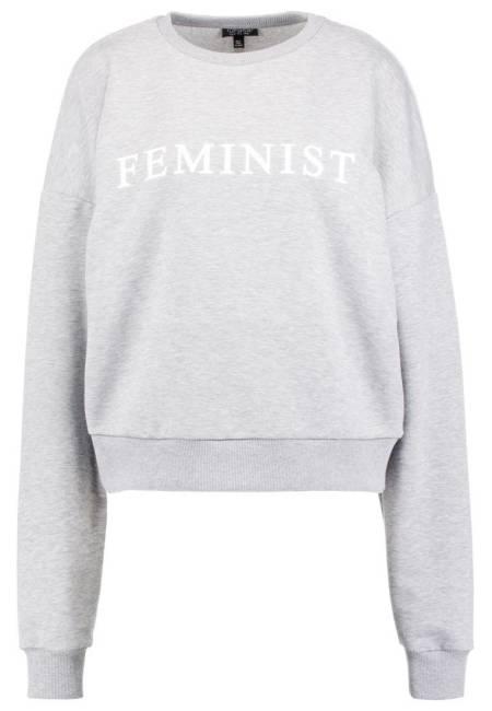 Topshop: FEMINIST - Sweatshirt - grey marl
