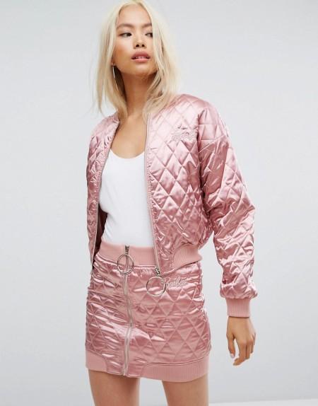 Missguided - Barbie - Gesteppte Bomberjacke - Rosa