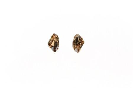 Sabrina Dehoff: Earring Pins Leo Crystal Rock Small