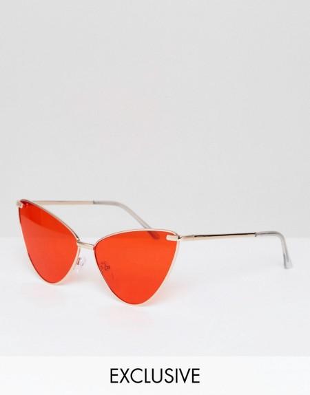 AJ Morgan - Katzenaugensonnenbrille aus Metall mit getönten Gläsern in Rot - Rot