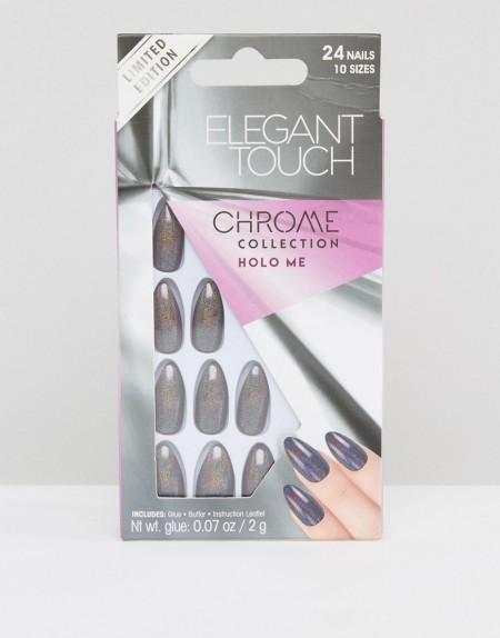 Elegant Touch - Chrome Coffin - Falsche Nägel, Holo Me - Mehrfarbig