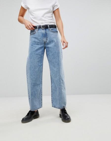 Levis: Levi's - Weite Mom-Jeans im Stil der 90er-Jahre - Blau