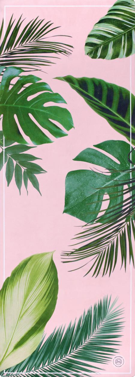 Grounded Factory: Botanical Garden Pink Yoga Mat