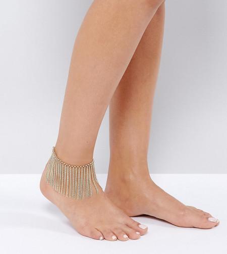 ALDO - Fußkettchen mit Kettenfransen - Gold